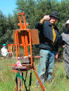 John Myers teaching an outdoors andscape class