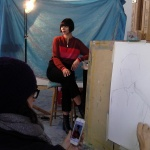 Portraiture - Working with the model at the Essential School of Painting (2) ©Alison Harper