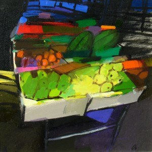 Market Stall, Barjac by Jacqueline Orr