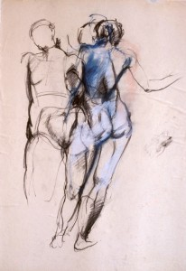 Body and Movement: Study charcoal and crayon by Alison Harper