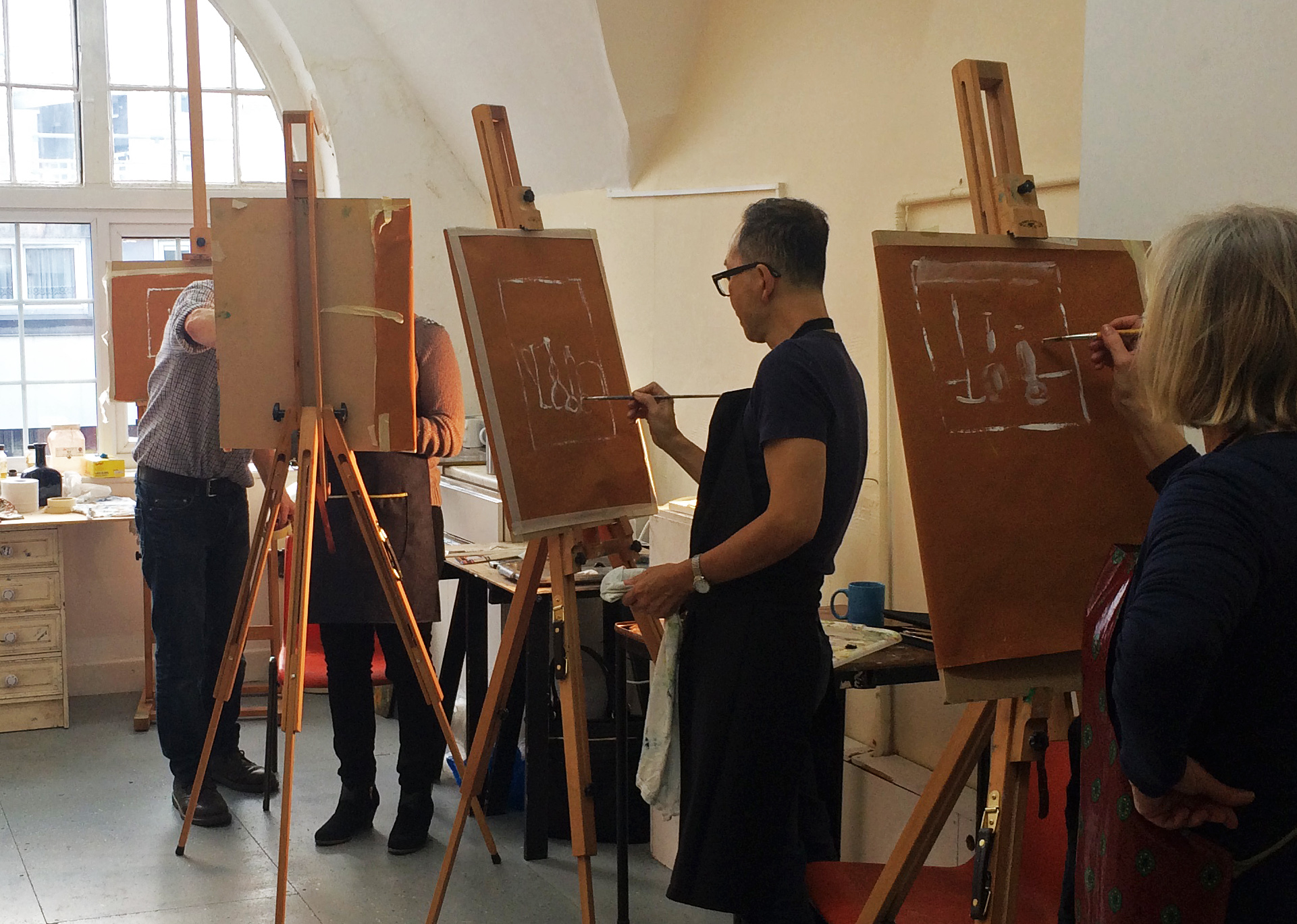 Oil painting for beginners with john myers 22 april 27 for Canvas painting classes