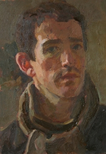 Self Portrait David Caldwell 2009 Oil on copper
